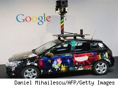 Google Street View Car Wifi Data Collection