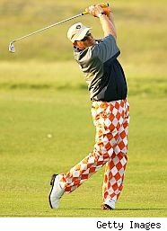 John Daly wears outrageous golf pants