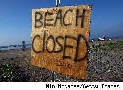 The BP oil spill closed beaches along the Gulf of Mexico