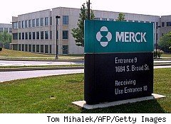 Shares of Merck, whose Lansdale, Penna., campus is pictured here, fell 2.2% Tuesday after the company failed to wow investors during its R&D and Business Briefing -- the first one following the integration of Schering-Plough, which Merck acquired last year for $49.6 billion.