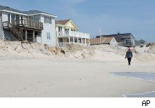 Vacation homes on the beach