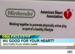 Does the Wii deserve an American Hearth Association logo?