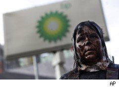 BP gas station protest