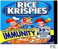 Kellogg's claim on packaging that Rice Krispies boosts children's immunity has led to another smackdown for the cereal giant from the federal government.