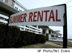a summer vacation rental house on the beach in New Jersey