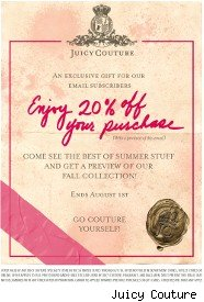 Juicy Couture coupon