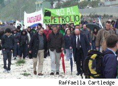 Anti-drilling protest in Abruzzo, Italy