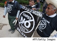 Arizona illegal immigration law protest