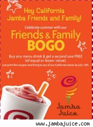 Jamba Juicd coupon