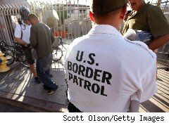 A U.S. border patrol agent in Nogalex, Arizona