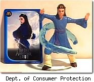 State wants McDonalds Last Airbender figure recalled.