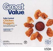 Walmart Perdue Great Value chicken nuggets recalled.