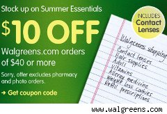 Walgreens $10 off coupon