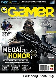 Gamer magazine cover from Best Buy