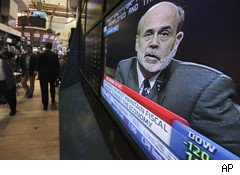 Ben Bernanke on TV in NYSE
