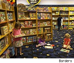 Children playing at Borders Books