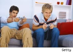 Gamer sues NCSoft for 'addicting' him to Lineage II - photo of two young men playing vid game