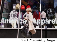 American Apparel may default on loans.