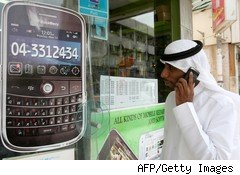Research In Motion is facing a ban of some of its BlackBerry services in the UAE and Saudi Arabia