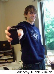 Student shows off his iPhone