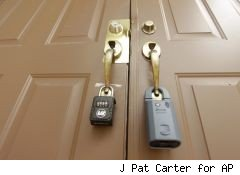 locks on a foreclosed house