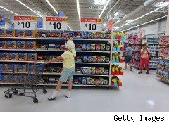 Woman shopping at Walmart