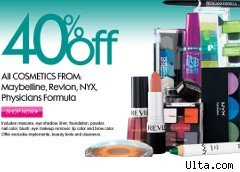 40% off coupon for Ulta products