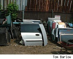 Car parts in junk yard