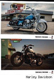 Two of the Harley Davidson posters available