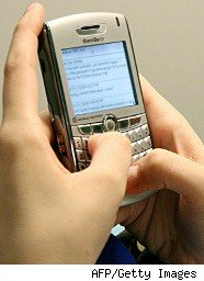 Using a cell phone for texting