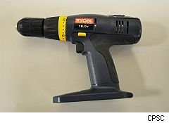 Ryobi drill from Home Depot recall.