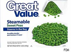 Glass found in frozen peas sold at Walmart, Kroger.