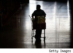 Shopper with cart