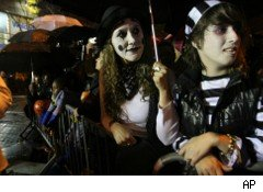People in costume, ready for Halloween