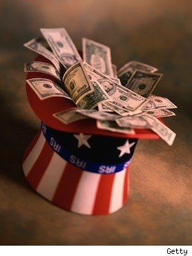 dollars in an Uncle Sam hat