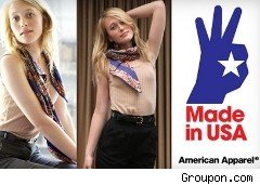 American Apparel discounts available at Groupon