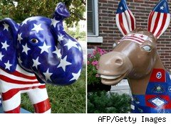 Democratic donkey Republican elephant