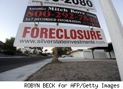 red foreclosure sign