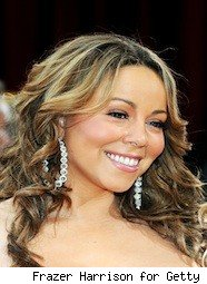Singer Mariah Carey in diamond earrings