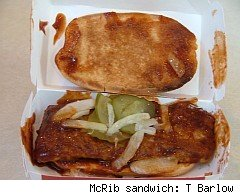 McRib sandwich photo