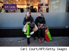 Women doing some Christmas shopping