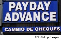 Payday advance check storefront