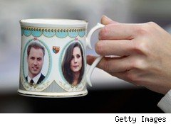 Prince William and Kate Middleton wedding commemorative mug