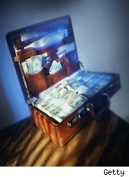suitcase full of cash -- financial fraud
