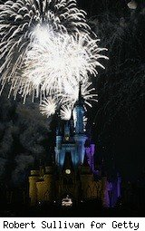 fireworks over disney castle - disney resort
