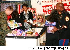 Marines collect gifts for children