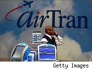 Airtran customer service rep on phone