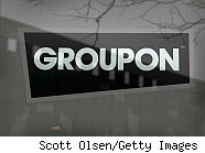 Groupon logo; money-saving innovations