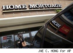 building sign says home mortgage -- mortgage interest deduction