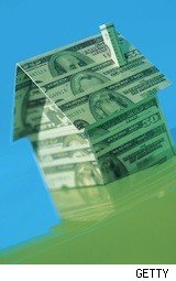 house made of paper money - mortgage rates